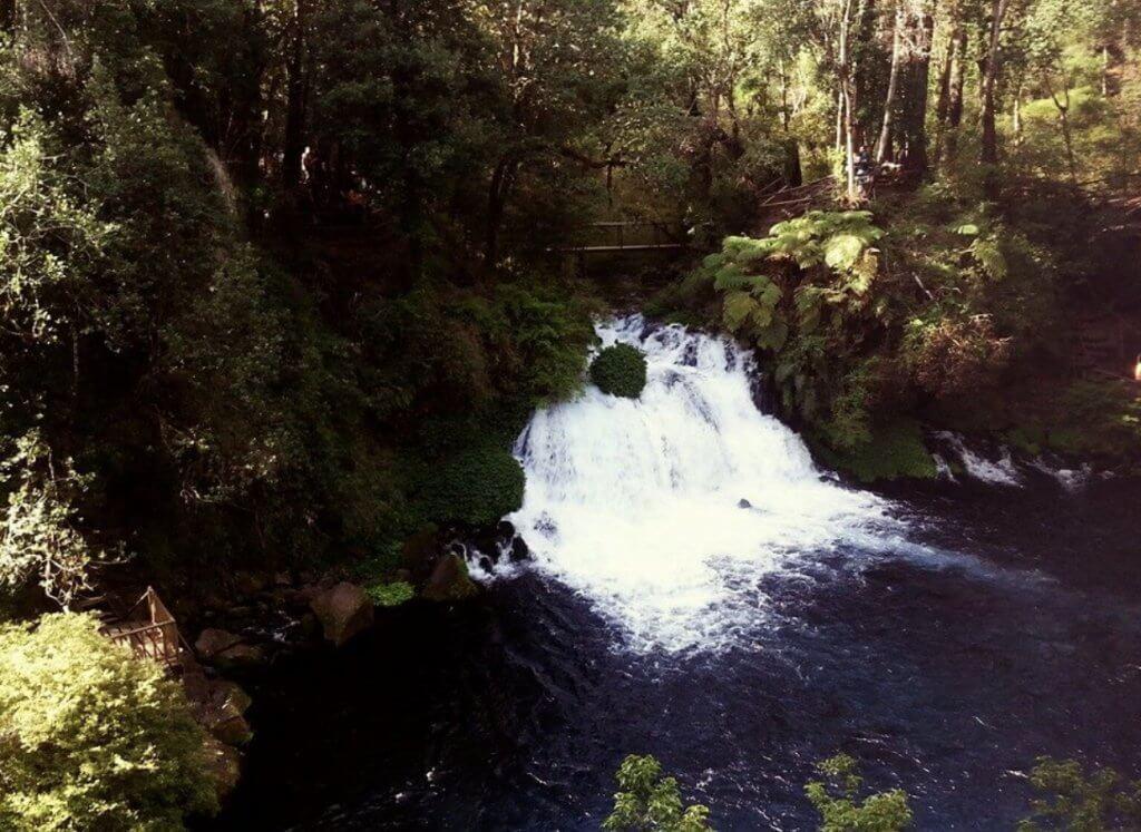 Pucón Chile Ojos de Caburgua Waterfall