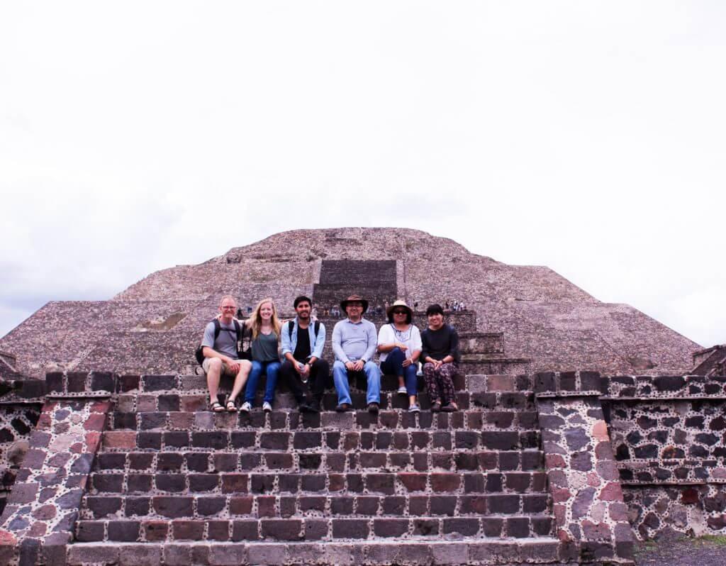 Enjoying the pyramids