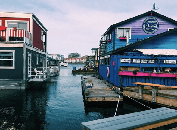 Colorful House Boats | Fisherman's Wharf | Victoria BC
