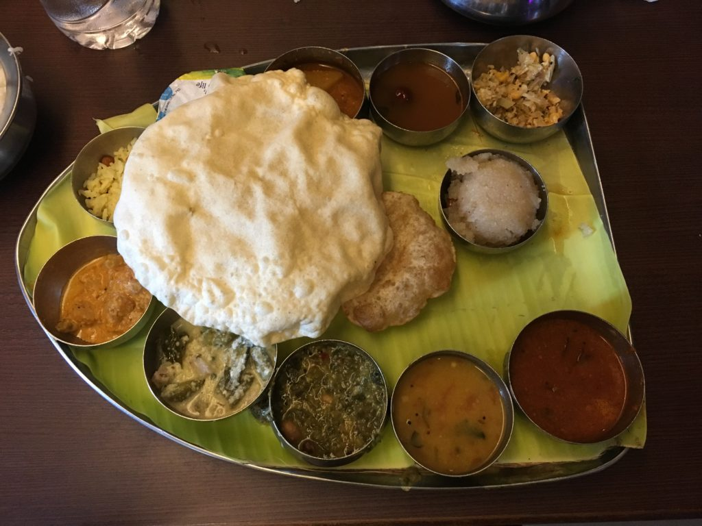 Delicious Indian food in restaurant