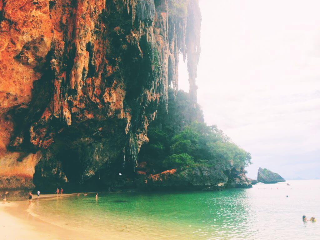 Beach Cliffs in Thailand   Go to Thailand