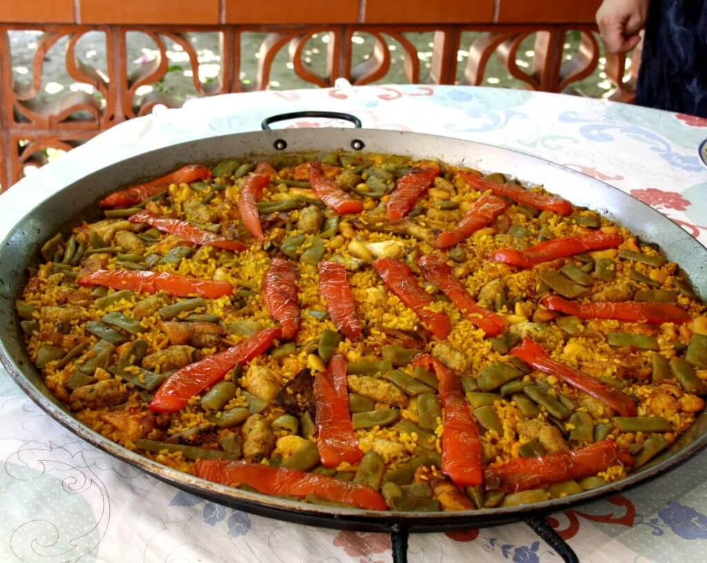 Bright Orange and Yellow Veggie Paella