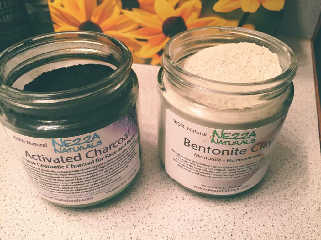 Activated Charcoal and Bentonite Clay Powders in Jars |14 Zero Waste Essentials: Toiletries to DIY