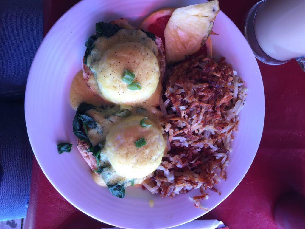 Eggs Benedict at The Bohemian Cafe |The Best Vegetarian and Vegan Restaurants in Kelowna, BC