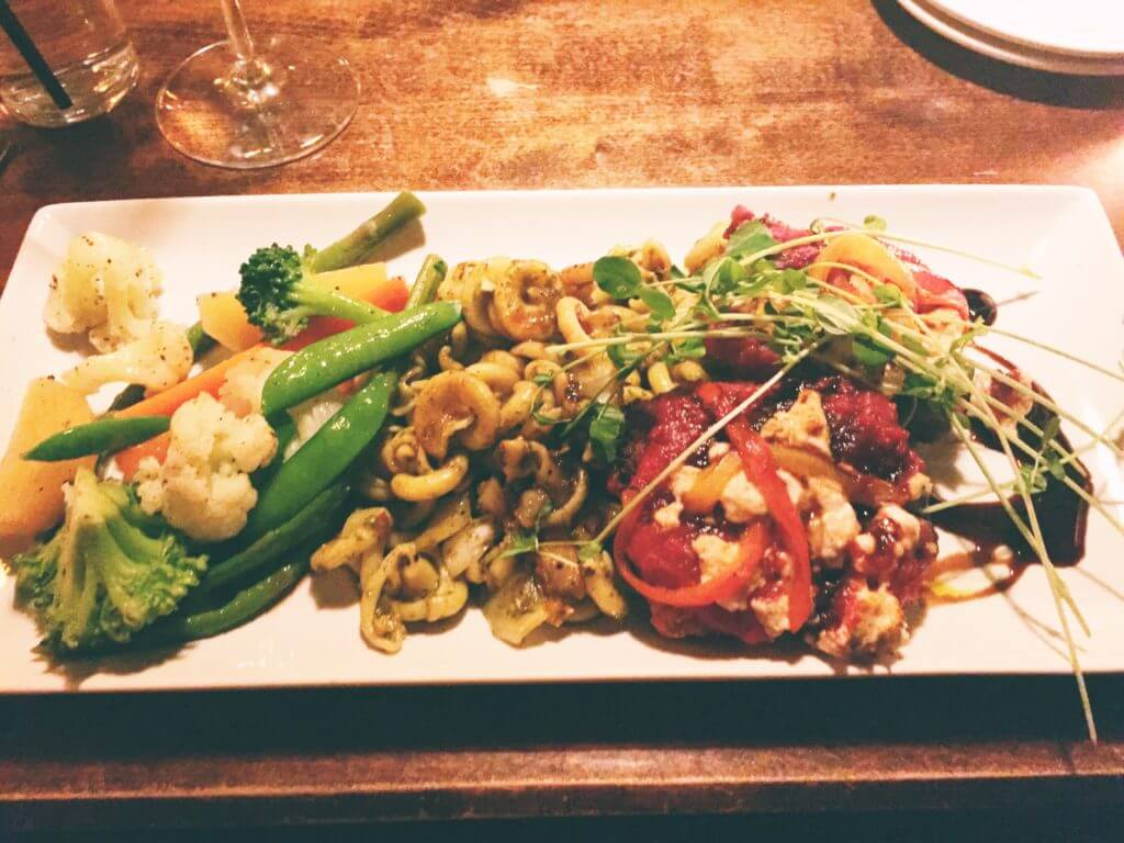 Vegan Chick'n Parmesan Dish |The Best Vegetarian and Vegan Restaurants in Kelowna, BC