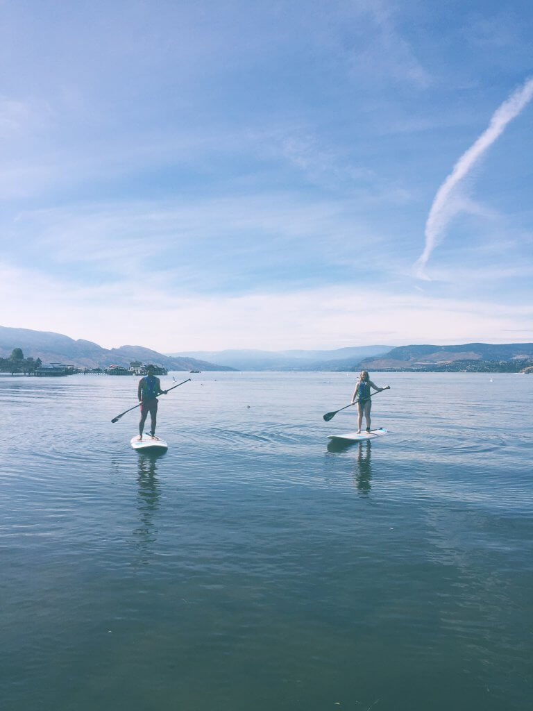 Paddle boarding in Kelowna