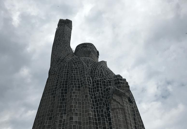 Janitzio Island   Statue of Morelos