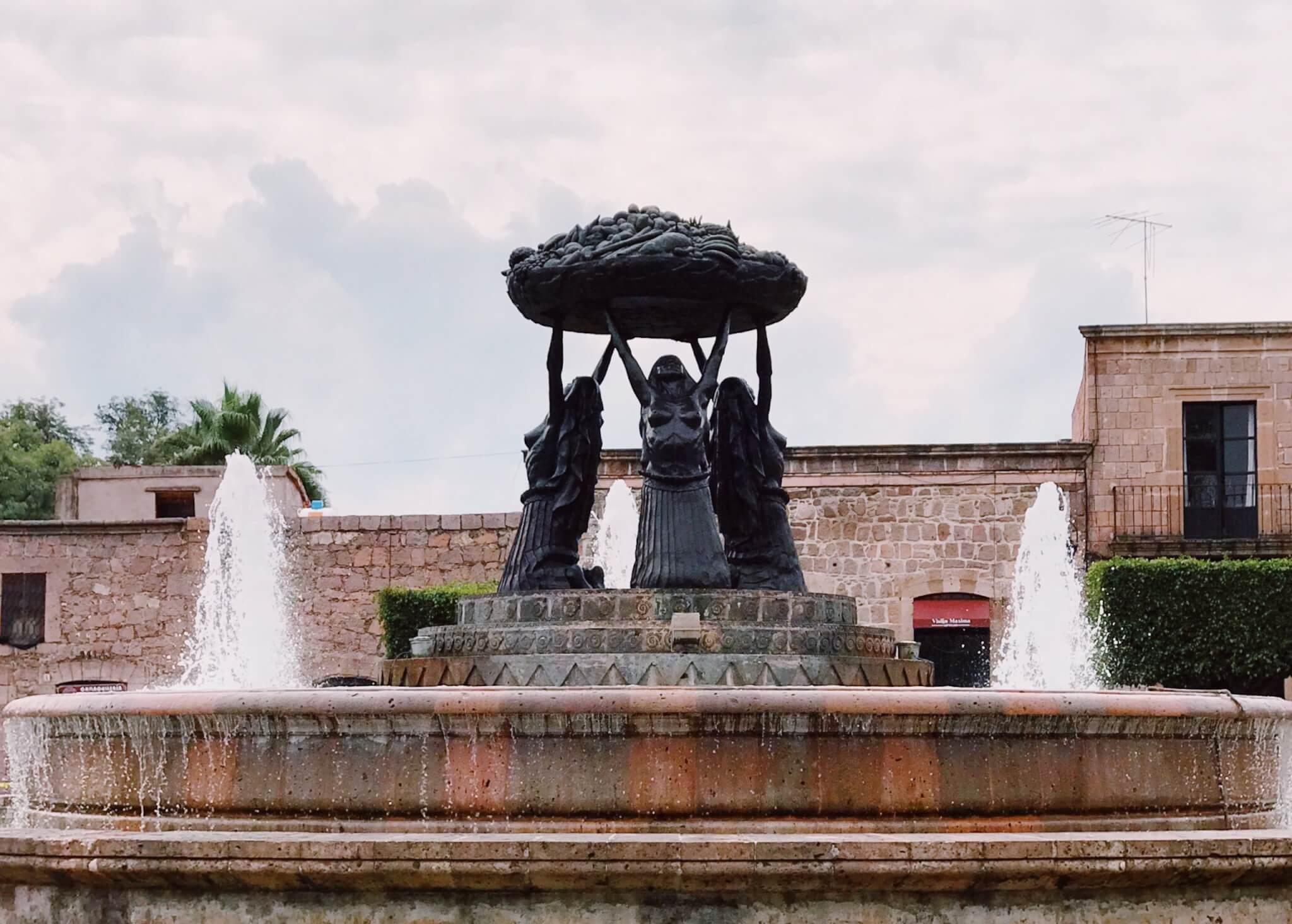 Tarascas Fountain in Morelia   Visit Michoacán