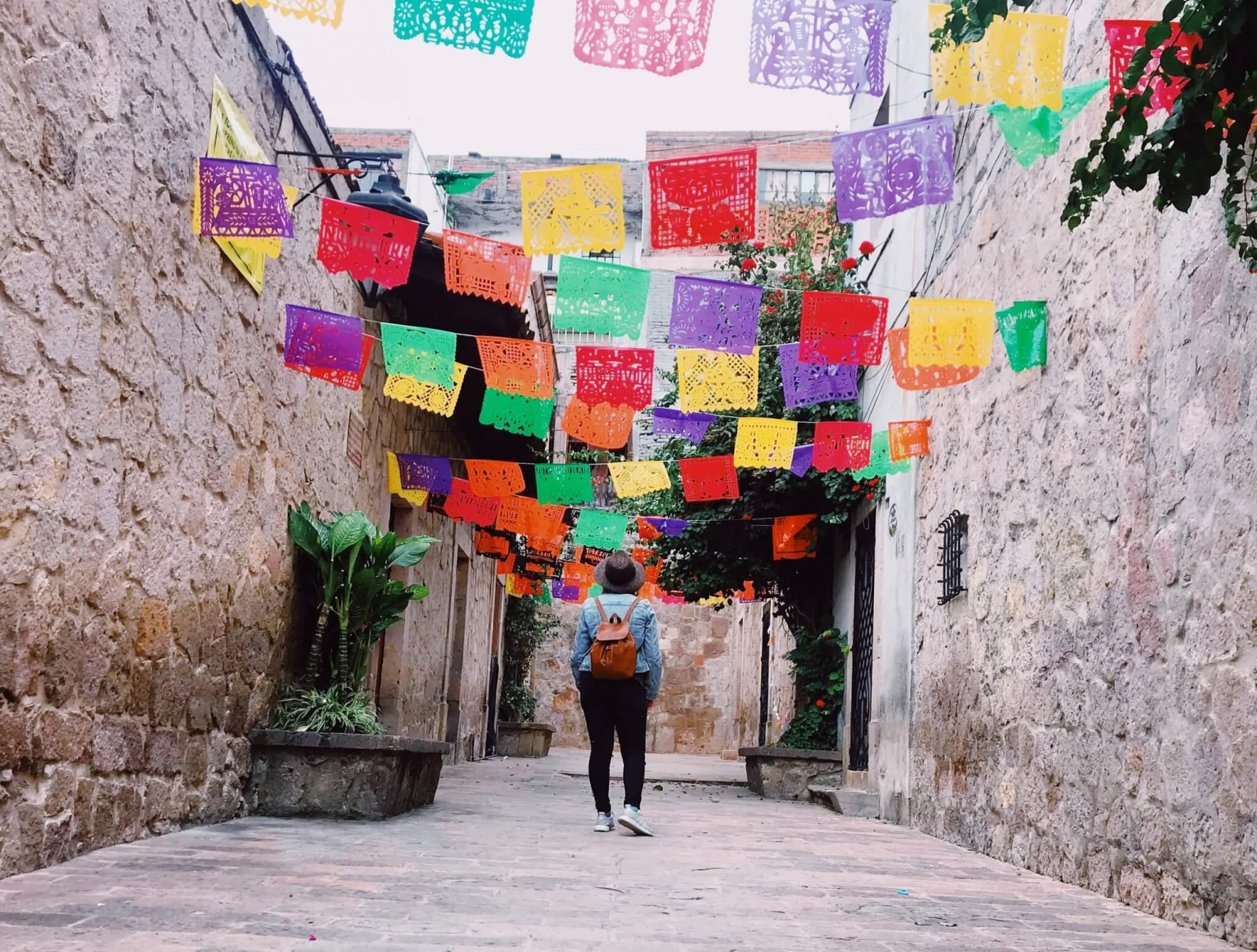 Visit Michoacán   Papel Picado in the Callejon del Romance