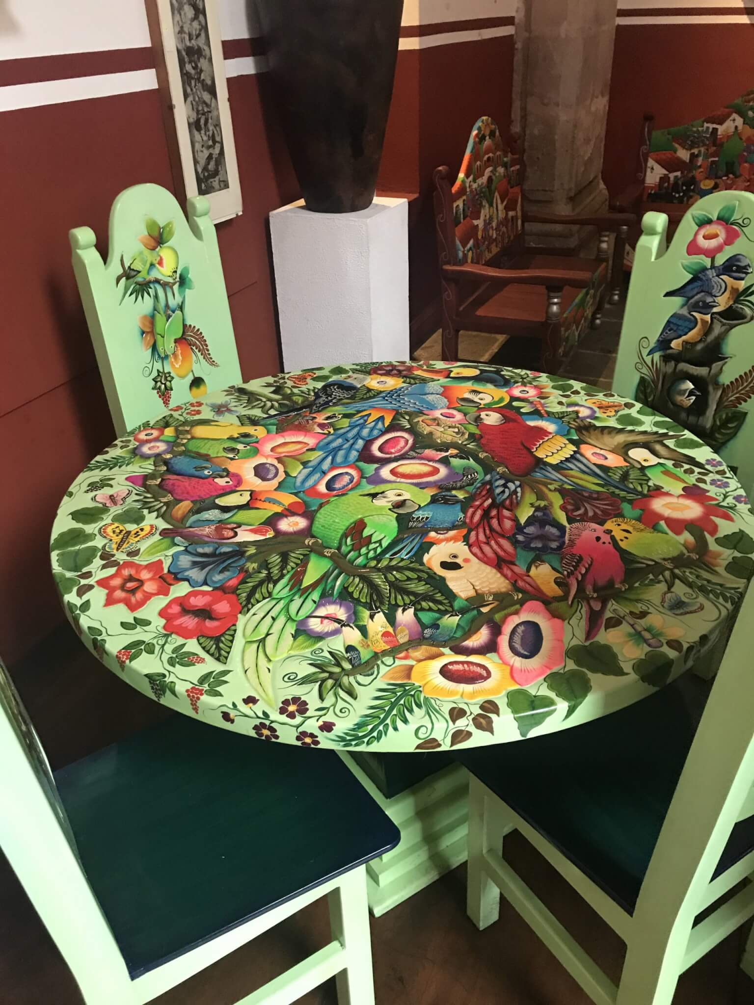 House of Handicrafts   Painted Table   Morelia