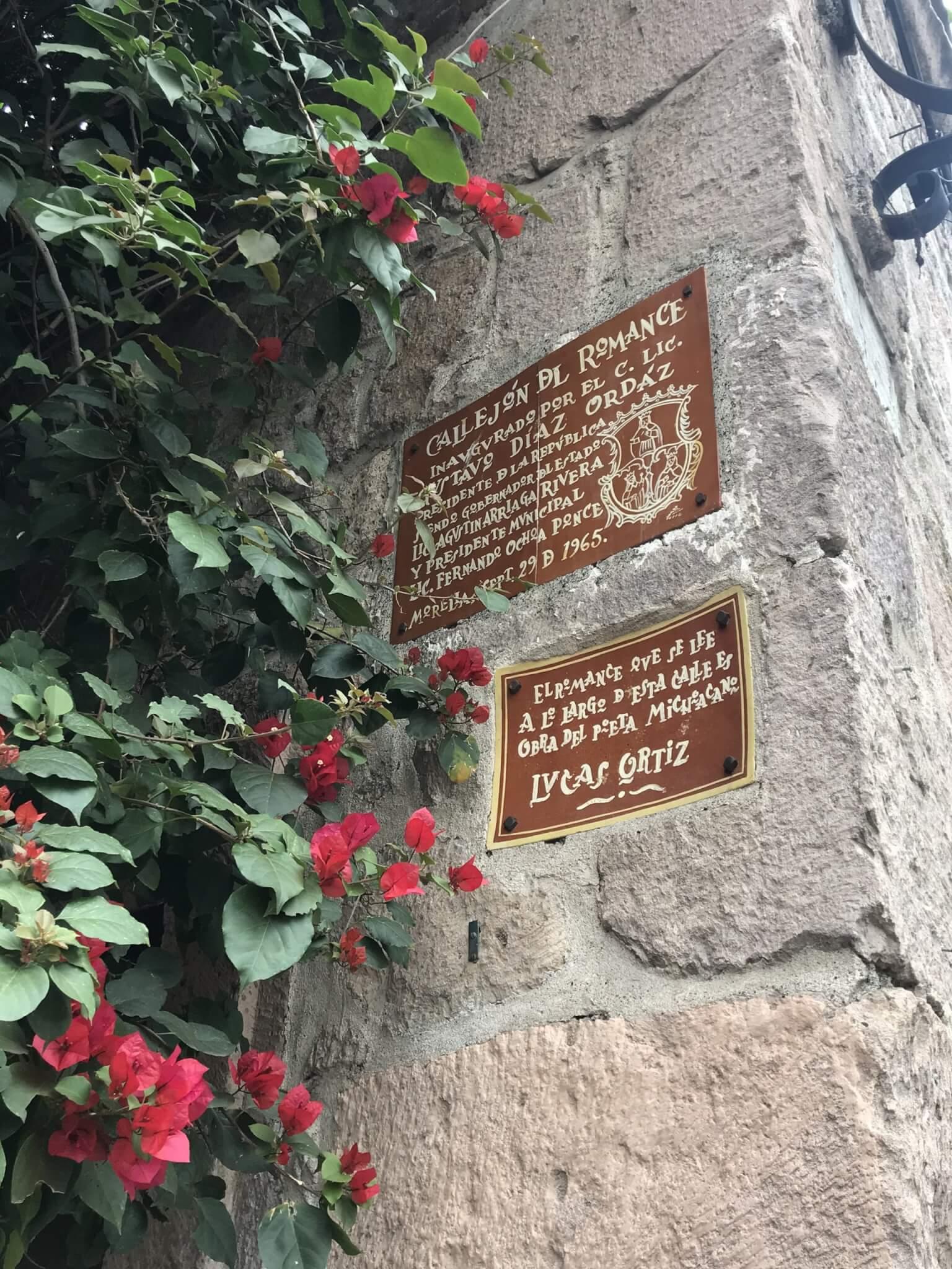 Callejon del Romance in Morelia   Love Poem