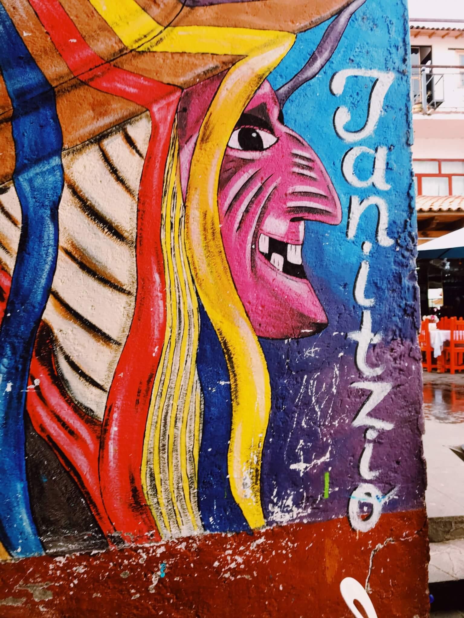 Street art on the island of Janitzio   Visit Michoacán