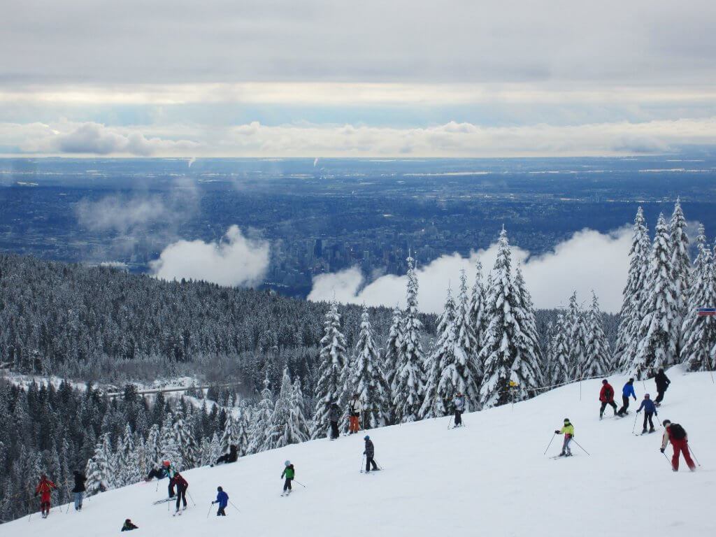 Christmas in Vancouver | People Skiing on Cypress Mountain