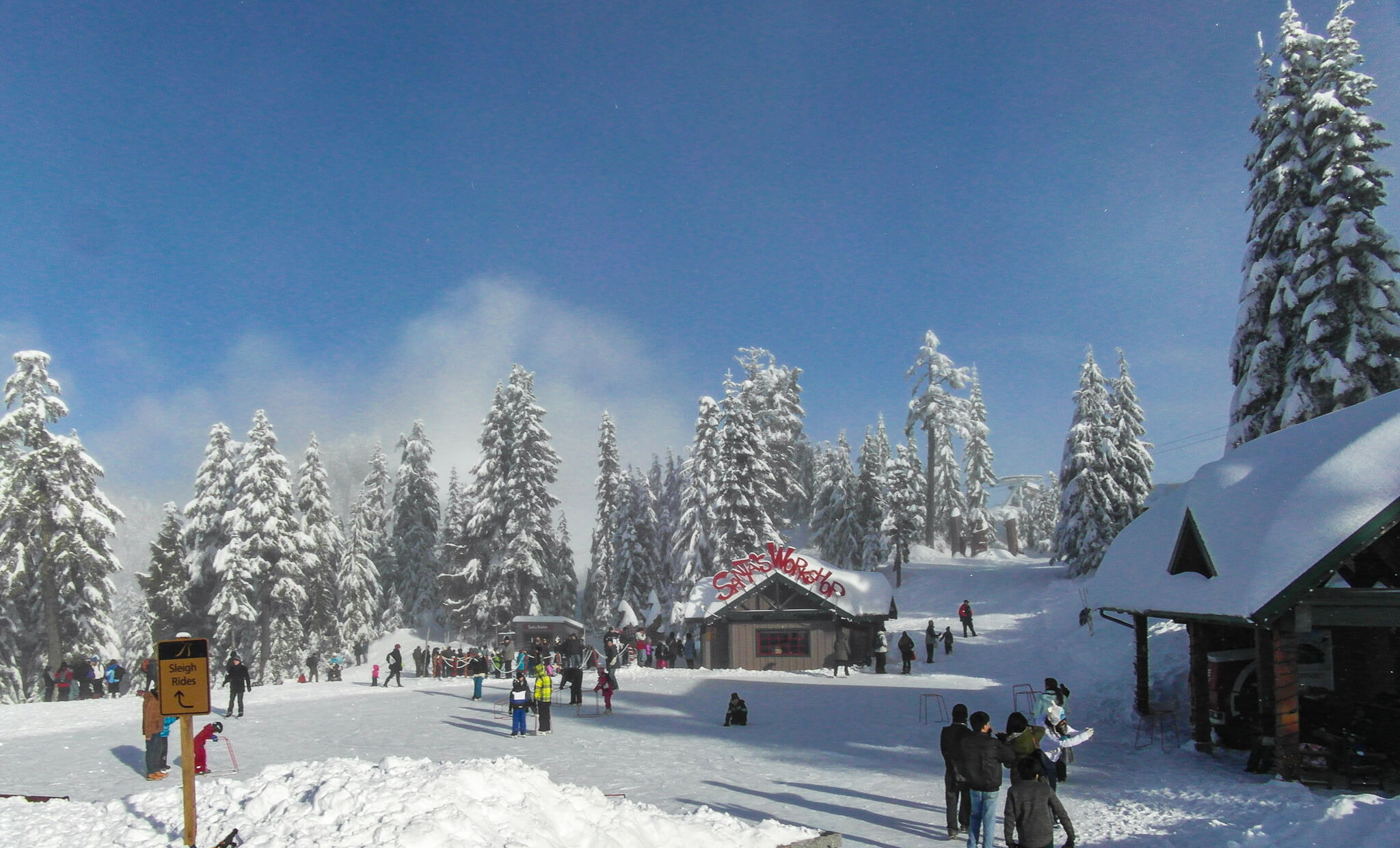 Peak of Christmas - Grouse Mountain Skating Pond
