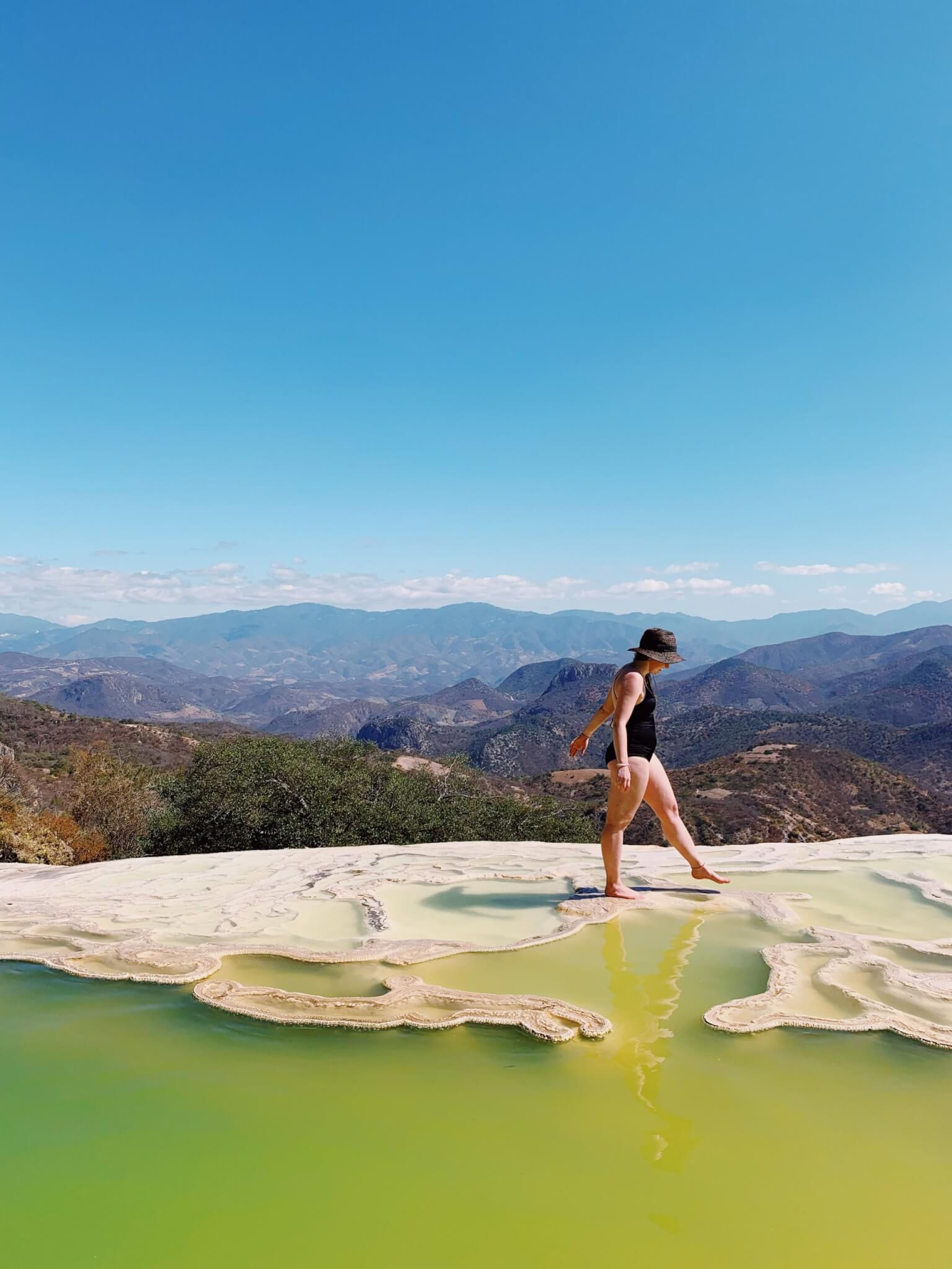Hierve el Agua Oaxaca | Enjoying the natural mineral pools
