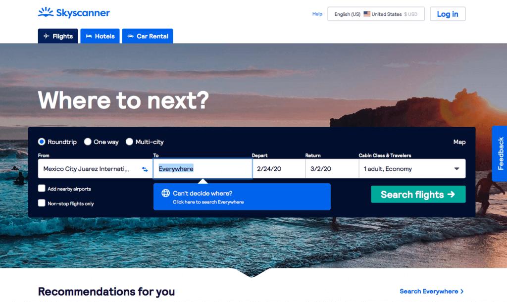 Skyscanner - Destination Everywhere | Affordable Transportation