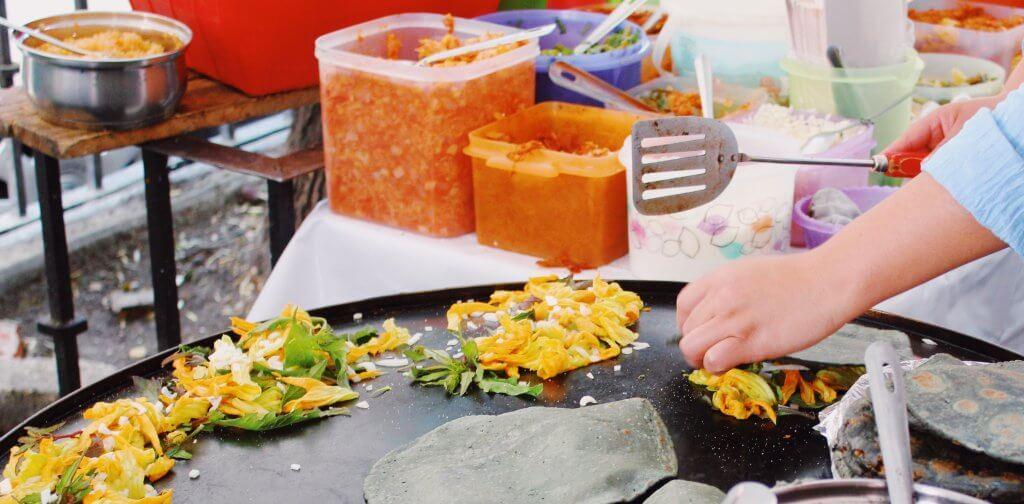 Blue Corn Quesadillas with Flor de Calabaza | Cooking Class in Mexico City