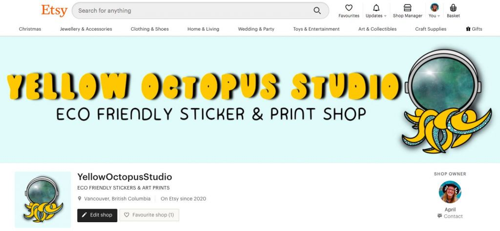Yellow Octopus Studio Etsy Shop / How to Start an Etsy Shop