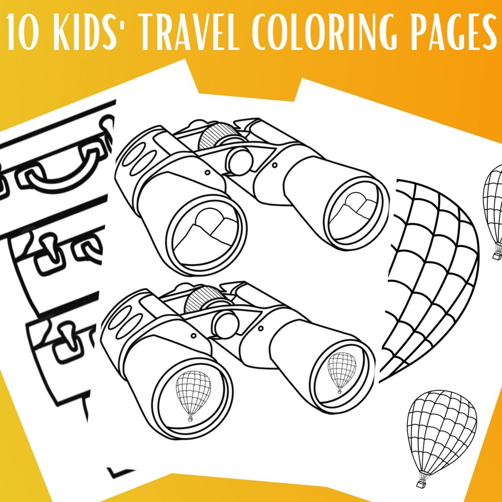 Kids' Travel Coloring Pages